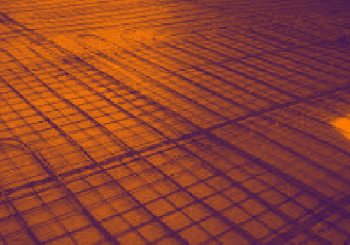 Floor slab scanning - Radiant heating tube detection