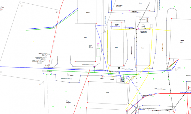 Undergroung utilities georeferencing and mapping